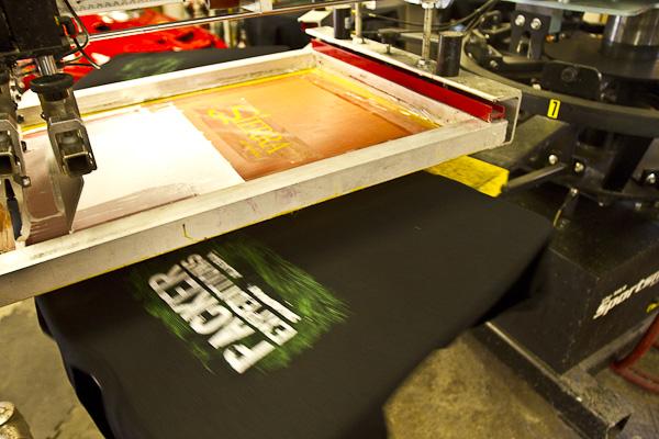 Custom screen printed graphics on apparel quality screen for Custom screen print shirt